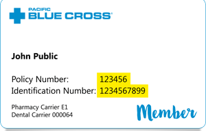 pacific blue cross card